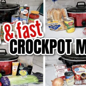 4 EASY SLOW COOKER MEALS | FAST CROCKPOT MEALS ON A BUDGET | FRUGAL FIT MOM
