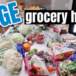 HUGE GROCERY HAUL FOR A FAMILY OF 6 | CLEARANCE SHOPPING WITH FRUGAL FIT MOM