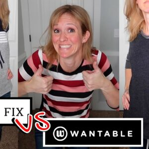 NEW CLOTHES TRY ON HAUL | STITCH FIX VS. WANTABLE SUBSCRIPTION BOXES WITH FRUGAL FIT MOM