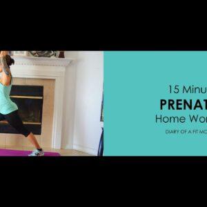 15 Minute Prenatal Yoga Home Workout