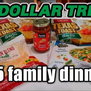 $5 LARGE FAMILY DINNER FROM DOLLAR TREE | COOK WITH ME ON A BUDGET