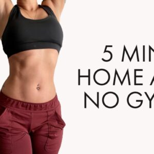 5 MIN ABS WORKOUT - NO EQUIPMENT // DIARY OF A FIT MOMMY