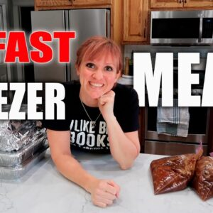 10 EASY FREEZER MEALS IN ONE HOUR! | INSTANT POT & SLOW COOKER IDEAS | SIX SISTERS STUFF COLLAB