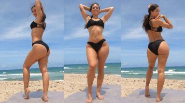 BIG Butt & Thick Thighs Bikini Beach Workout!