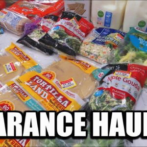 LARGE FAMILY CLEARANCE GROCERY HAUL | EATING ON A BUDGET WITH FRUGAL FIT MOM