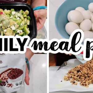 EASY FAMILY MEAL PREP | COOK WITH ME FRUGAL FIT MOM
