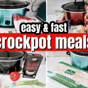 EASY & FAST SLOW COOKER MEALS | LARGE FAMILY CROCKPOT DINNERS & A FAIL!