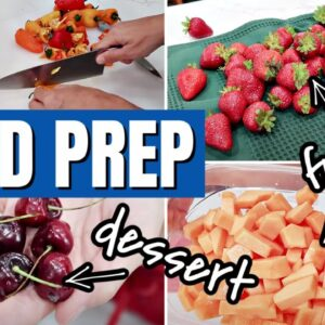 FREEZER HACK AND FAMILY MEAL PREP | INGREDIENT PREP AND COOK WITH ME