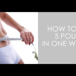 How to Lose 5 Pounds In One Weekend