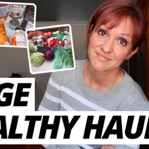 LARGE FAMILY HEALTHY GROCERY HAUL with FRUGAL FIT MOM