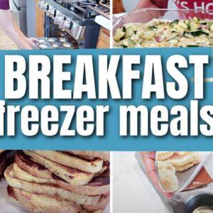 BACK TO SCHOOL BREAKFAST FREEZER MEALS | EASY BREAKFAST RECIPES TO FILL YOUR FREEZER