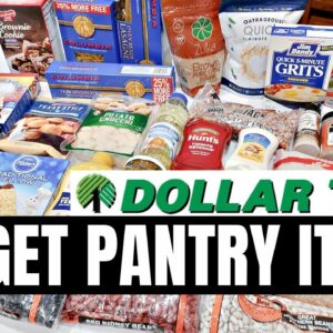 START A PANTRY ON A BUDGET | SHOP WITH ME DOLLAR TREE HAUL | KITCHEN PANTRY BASICS