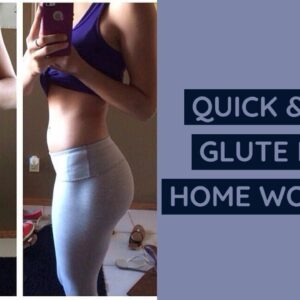 QUICK & EASY GLUTE PUMP WORKOUT-NO GYM NEEDED! | Quarantine Exercises