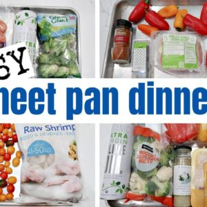 QUICK & EASY SHEET PAN DINNERS | WHAT'S FOR DINNER | FRUGAL FIT MOM