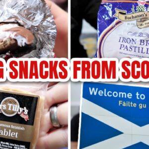 AMERICANS TRYING SCOTTISH SNACKS | SCOTTISH TABLET, SNACKS FROM SCOTLAND | FFM