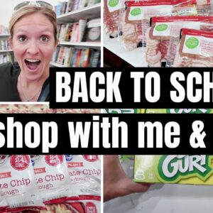 BACK TO SCHOOL 2021 SHOP WITH ME, THRIFT STORE HAUL & GROCERY HAUL | FRUGAL FIT MOM
