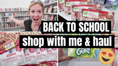BACK TO SCHOOL 2021 SHOP WITH ME, THRIFT STORE HAUL & GROCERY HAUL   FRUGAL FIT MOM