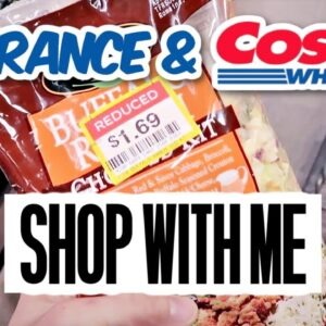 Shop with me Costco Haul & Clearance Grocery haul | Frugal Fit Mom