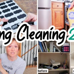 SPRING CLEANING, DECLUTTER, & ORGANIZATION | CLEAN WITH ME 2021