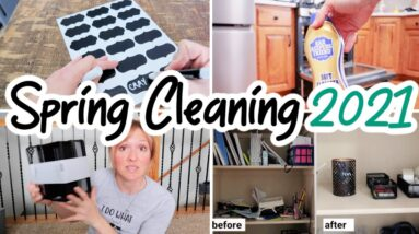 SPRING CLEANING, DECLUTTER, & ORGANIZATION   CLEAN WITH ME 2021