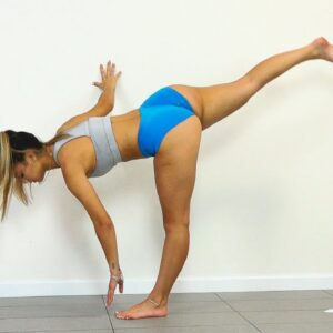 THICK THIGHS AND BIG BUTT  Miami Bikini Model Does Lower Body Workout