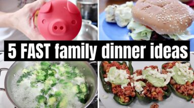 5 FAST & EASY FAMILY FAVORITES | WHAT'S FOR DINNER | FRUGAL FIT MOM