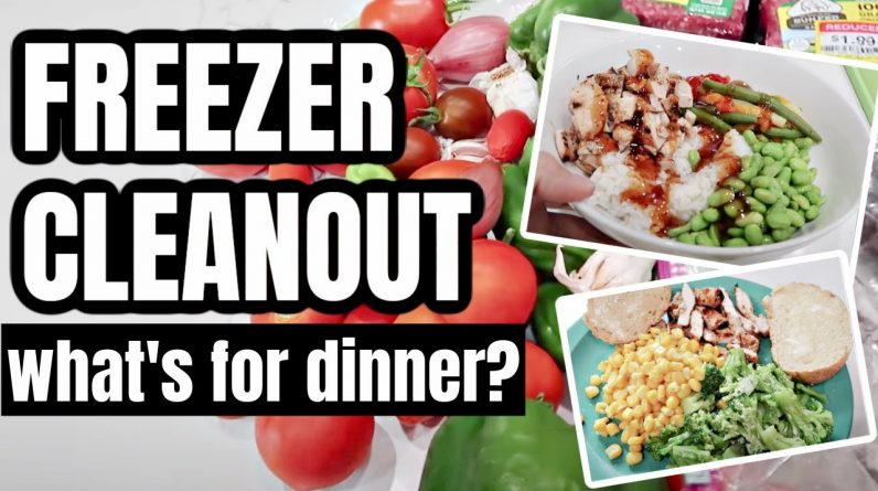 COOK WITH ME FREEZER CLEAN OUT | WHAT'S FOR DINNER? | FRUGAL FIT MOM