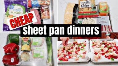 EASY SHEET PAN DINNERS | COOK WITH ME | FRUGAL FIT MOM