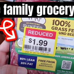 HUGE GROCERY HAUL   FEEDING A FAMILY OF 6 FOR UNDER $300 A MONTH   FRUGAL FIT MOM