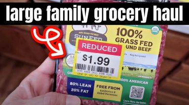 HUGE GROCERY HAUL | FEEDING A FAMILY OF 6 FOR UNDER $300 A MONTH | FRUGAL FIT MOM