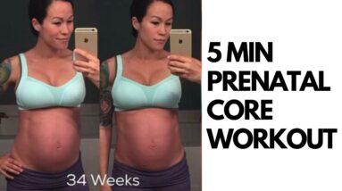 """SIX PACK"" PREGNANCY ABS WORKOUT | 5 MINUTES!! {Diastasis Recti Safe}"