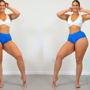 Super THICK Fit Girls Big Butt and Strong Legs Home Workout!!